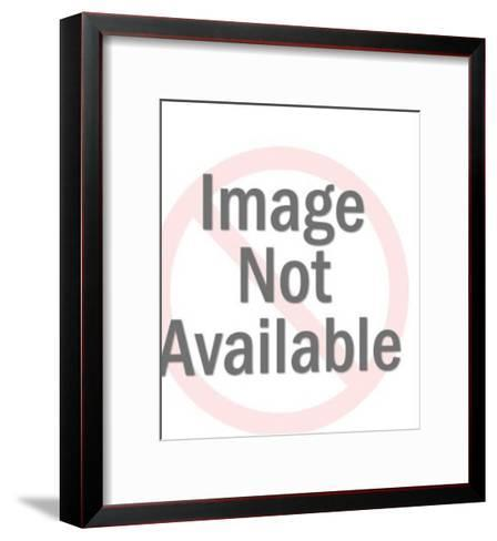 Man Holding One Large and One Extra Large Bill-Pop Ink - CSA Images-Framed Art Print