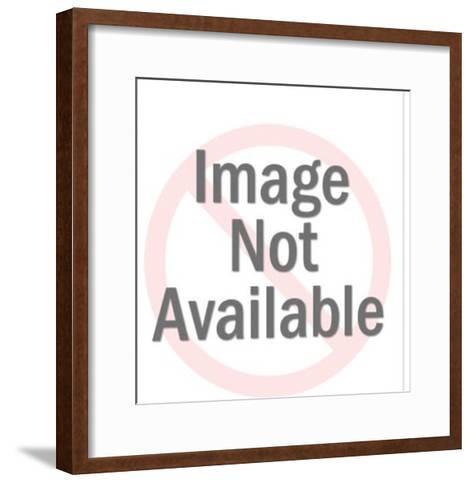 Smiling Cat Mask-Pop Ink - CSA Images-Framed Art Print