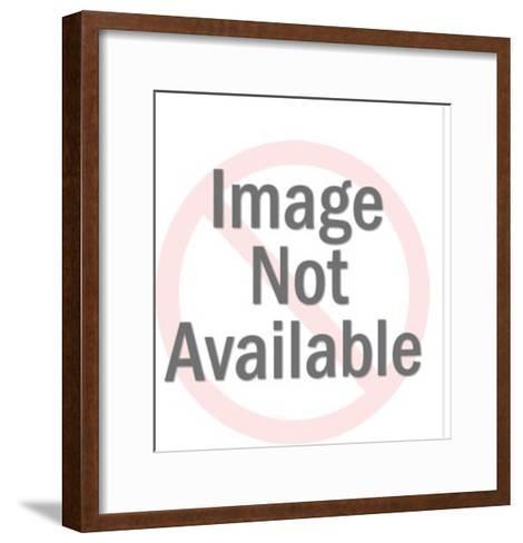 Man Wearing Space Helmet-Pop Ink - CSA Images-Framed Art Print