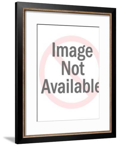 Light Bulb Head Man and Money-Pop Ink - CSA Images-Framed Art Print