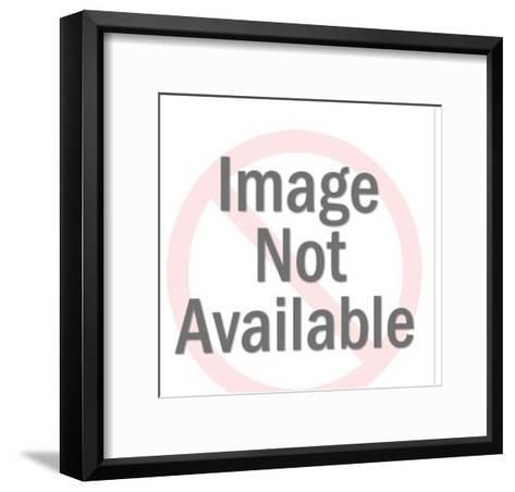 Blonde Woman Wearing Headset-Pop Ink - CSA Images-Framed Art Print