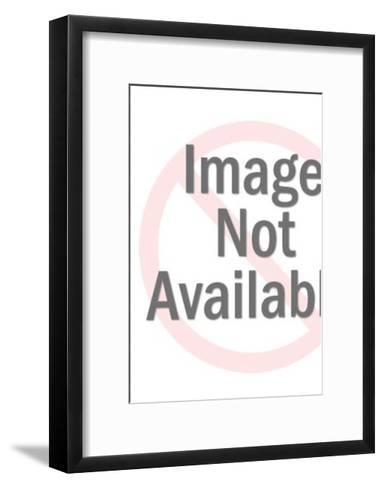 Yellow Astronaut Walker-Pop Ink - CSA Images-Framed Art Print
