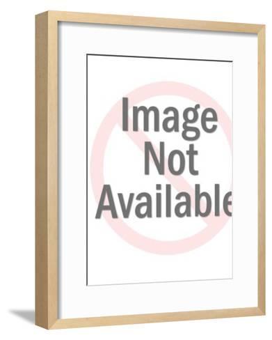 Orange Skeleton Holding Bat-Pop Ink - CSA Images-Framed Art Print