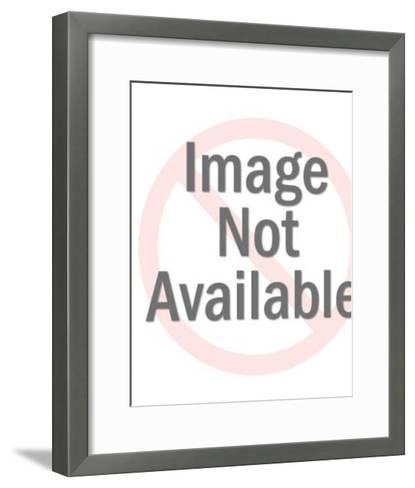 Elderly Couple Standing on Coins-Pop Ink - CSA Images-Framed Art Print