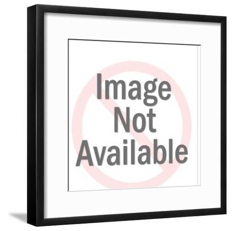 Clown Performing on Ladder-Pop Ink - CSA Images-Framed Art Print