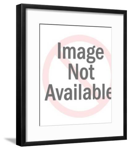 Tiny Man With Large Dog-Pop Ink - CSA Images-Framed Art Print