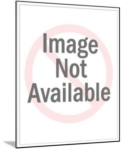 View of Man Walking Way Through Columns-Pop Ink - CSA Images-Mounted Photo