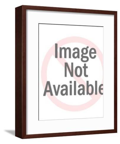 Orange Blurry Alien-Pop Ink - CSA Images-Framed Art Print