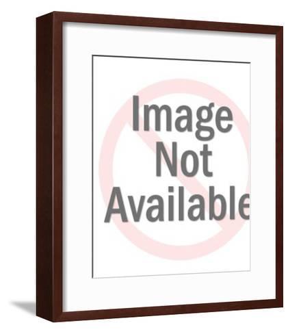 Mustache Man in Blue Shirts-Pop Ink - CSA Images-Framed Art Print