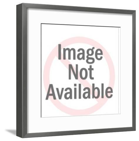 Red Man Holding Globe-Pop Ink - CSA Images-Framed Art Print