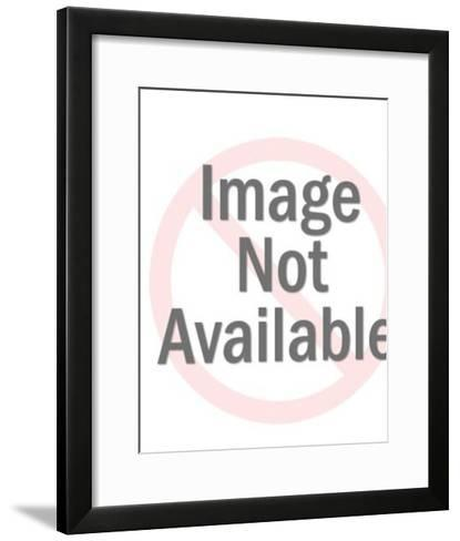 People Climbing on to Bull-Pop Ink - CSA Images-Framed Art Print
