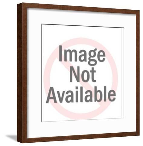 Gold Man Running With Gun and Axe-Pop Ink - CSA Images-Framed Art Print