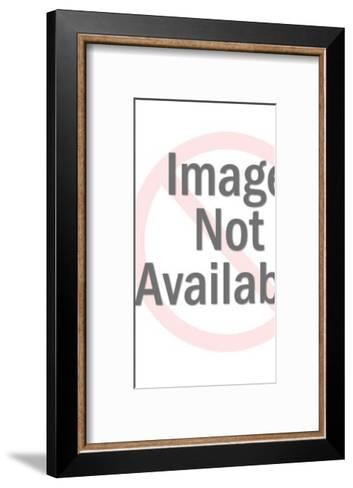 Blonde Woman Wearing Shorts-Pop Ink - CSA Images-Framed Art Print