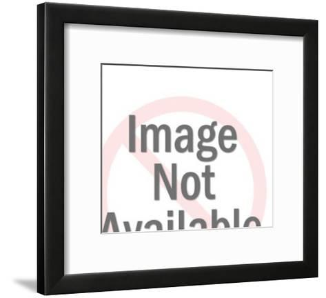 Native American Man Wearing Headdress-Pop Ink - CSA Images-Framed Art Print