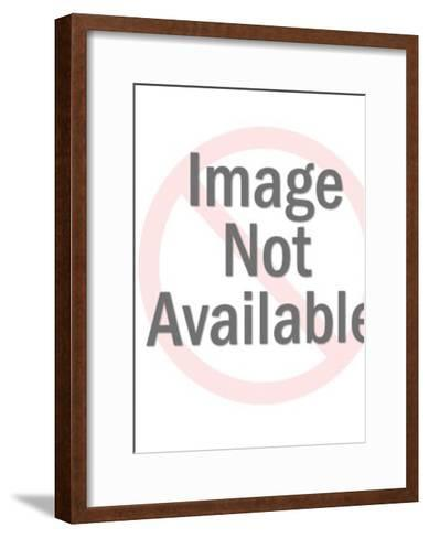Bronze Spaceman Holding Weapon-Pop Ink - CSA Images-Framed Art Print