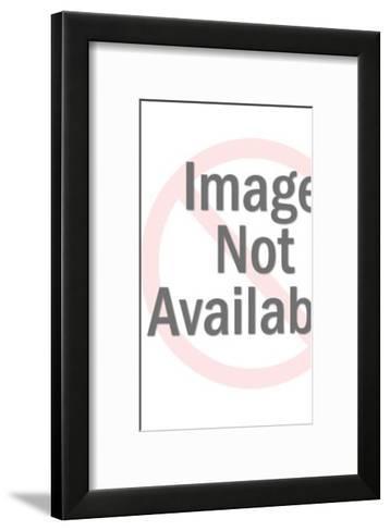 Gold Robot Walking-Pop Ink - CSA Images-Framed Art Print
