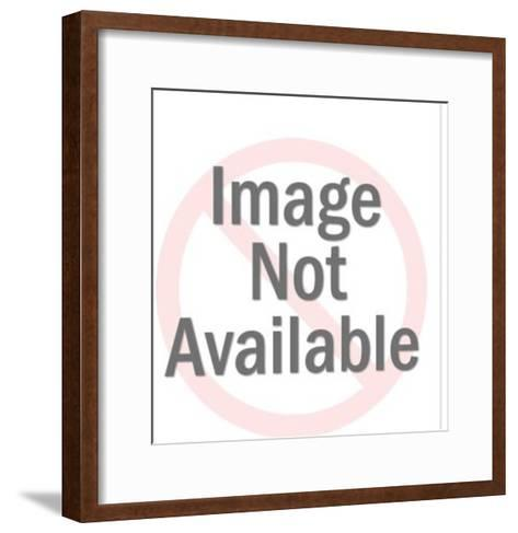 Clown Holding Microphone-Pop Ink - CSA Images-Framed Art Print