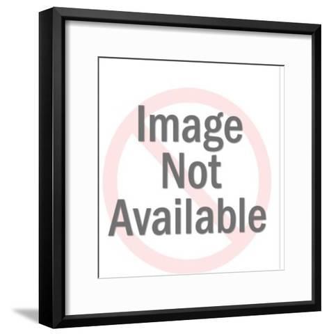 Astronaut Wearing Gold Helmet-Pop Ink - CSA Images-Framed Art Print
