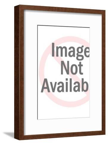 Man in Diving Helmet Holding Treasure-Pop Ink - CSA Images-Framed Art Print
