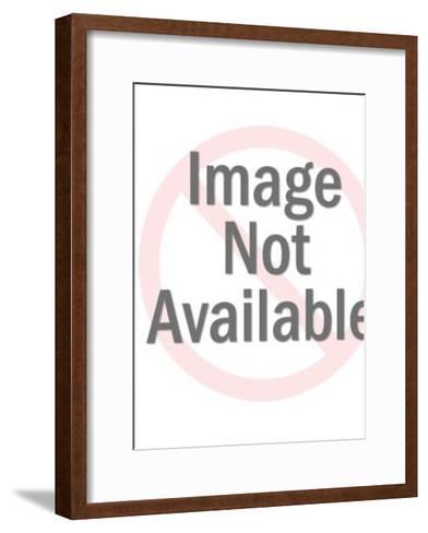 Red Alien Holding Gun-Pop Ink - CSA Images-Framed Art Print