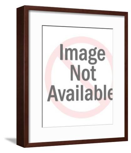Blue Eyed Blonde Woman-Pop Ink - CSA Images-Framed Art Print