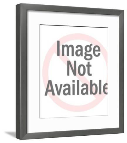 Blue Eyed Topless Woman-Pop Ink - CSA Images-Framed Art Print