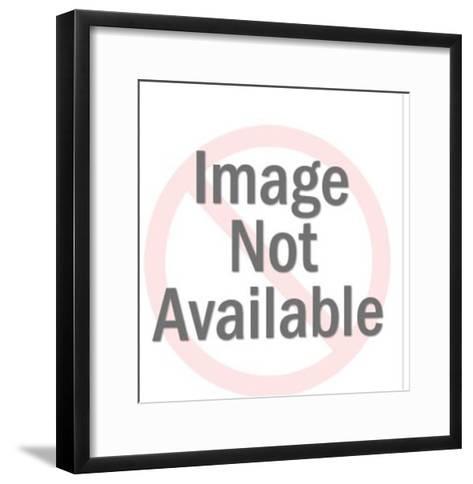Pineapple Head Man Wearing Glasses-Pop Ink - CSA Images-Framed Art Print