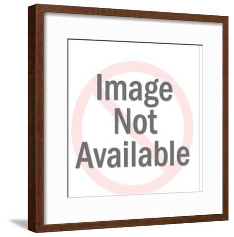 Smiling Orange Bee-Pop Ink - CSA Images-Framed Art Print
