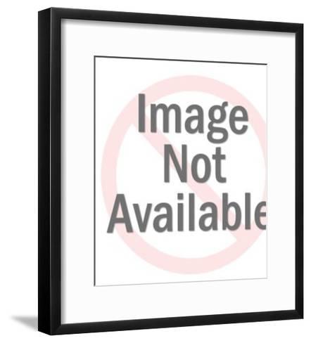 Blue and White RV-Pop Ink - CSA Images-Framed Art Print