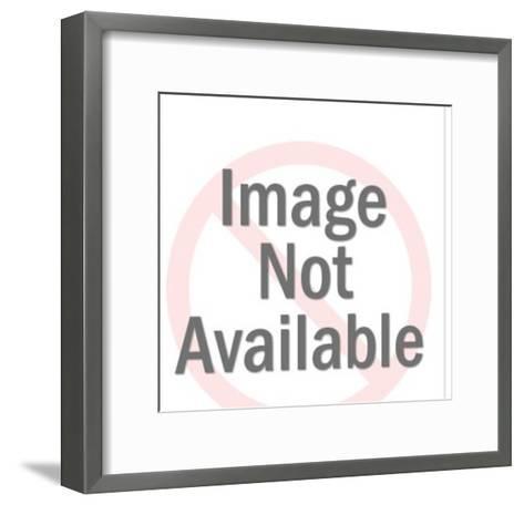 Man Using Jackhammer-Pop Ink - CSA Images-Framed Art Print