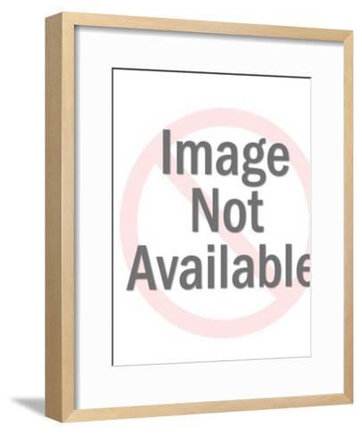 Silver Astronaut Holding Space Gun-Pop Ink - CSA Images-Framed Art Print
