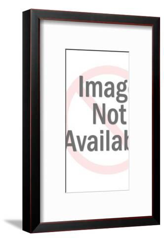 Man Holding Computer-Pop Ink - CSA Images-Framed Art Print