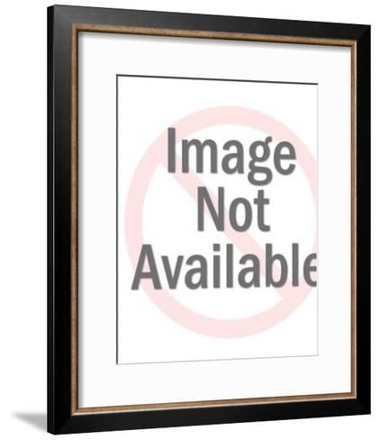 Plastic Rooster Figurine-Pop Ink - CSA Images-Framed Art Print