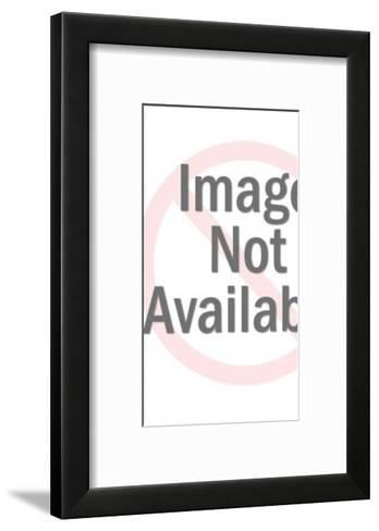 Man Standing On Top Of The World-Pop Ink - CSA Images-Framed Art Print