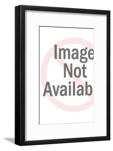 Three People Standing On Top Of The World-Pop Ink - CSA Images-Framed Art Print