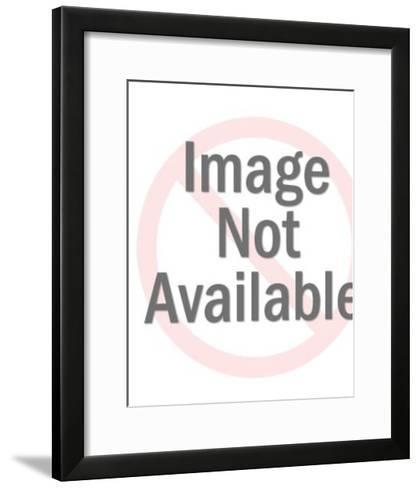 Girl With Phone Around Her Neck-Pop Ink - CSA Images-Framed Art Print