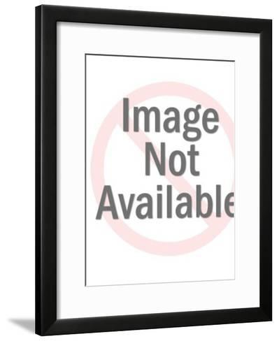 Lady Holding a Surfboard-Pop Ink - CSA Images-Framed Art Print