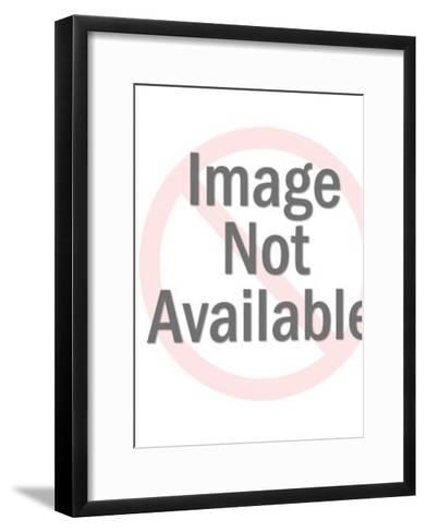 Cow Grazing-Pop Ink - CSA Images-Framed Art Print