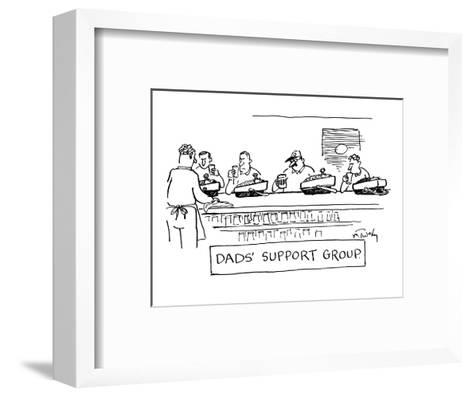 """""""Dad's Support Group"""" - New Yorker Cartoon-Mike Twohy-Framed Art Print"""