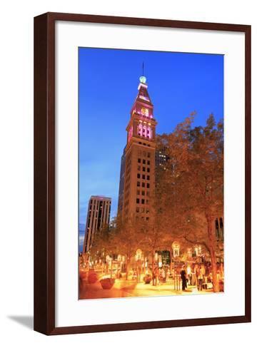 Daniel's and Fisher Tower, 16th Street Mall, Denver, Colorado, United States of America-Richard Cummins-Framed Art Print