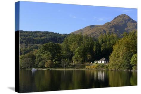 Waterside Cottage, Inveruglas, Loch Lomond, Stirling, Scotland, United Kingdom, Europe-Peter Richardson-Stretched Canvas Print