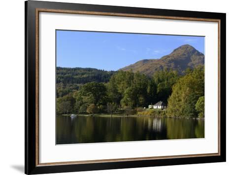 Waterside Cottage, Inveruglas, Loch Lomond, Stirling, Scotland, United Kingdom, Europe-Peter Richardson-Framed Art Print