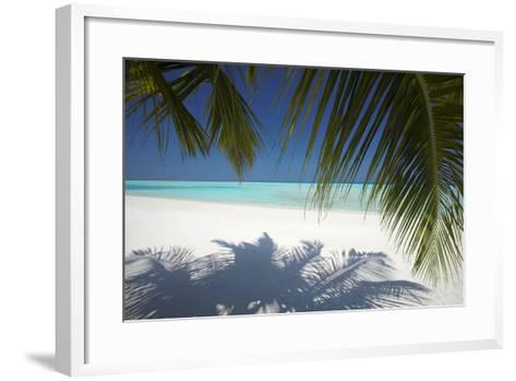 Tropical Beach, Maldives, Indian Ocean, Asia-Sakis Papadopoulos-Framed Art Print