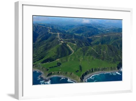 View of Wellington from the Air, North Island, New Zealand, Pacific-Bhaskar Krishnamurthy-Framed Art Print
