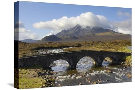 Sgurr Nan Gillean from Sligachan, Isle of Skye, Inner Hebrides, Scotland, United Kingdom, Europe-Gary Cook-Stretched Canvas Print