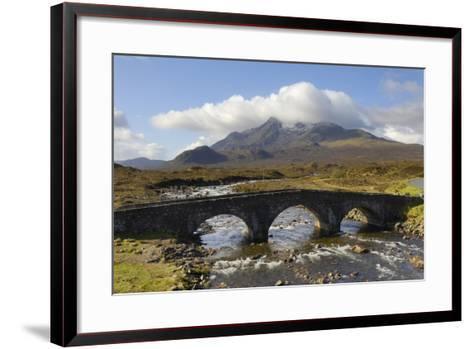 Sgurr Nan Gillean from Sligachan, Isle of Skye, Inner Hebrides, Scotland, United Kingdom, Europe-Gary Cook-Framed Art Print
