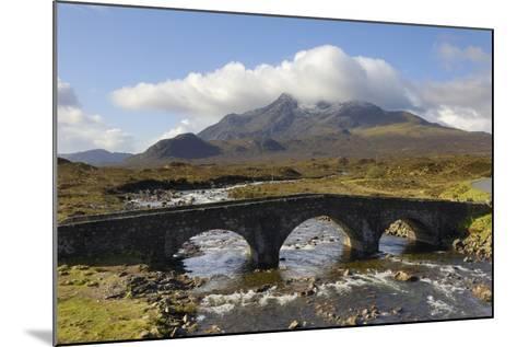 Sgurr Nan Gillean from Sligachan, Isle of Skye, Inner Hebrides, Scotland, United Kingdom, Europe-Gary Cook-Mounted Photographic Print
