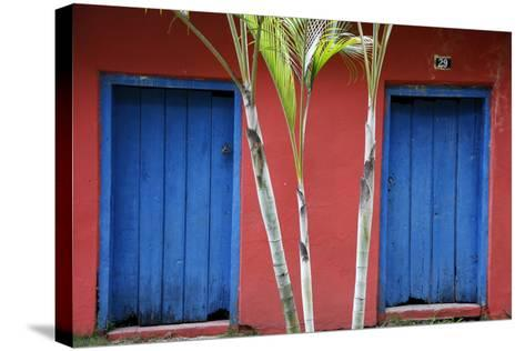 Detail of a Colonial House at the Historical Centre (Cidade Alta) of Porto Seguro, Bahia, Brazil-Yadid Levy-Stretched Canvas Print