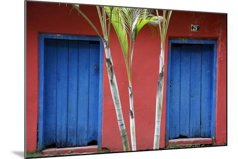 Detail of a Colonial House at the Historical Centre (Cidade Alta) of Porto Seguro, Bahia, Brazil-Yadid Levy-Mounted Photographic Print