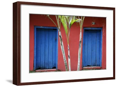 Detail of a Colonial House at the Historical Centre (Cidade Alta) of Porto Seguro, Bahia, Brazil-Yadid Levy-Framed Art Print